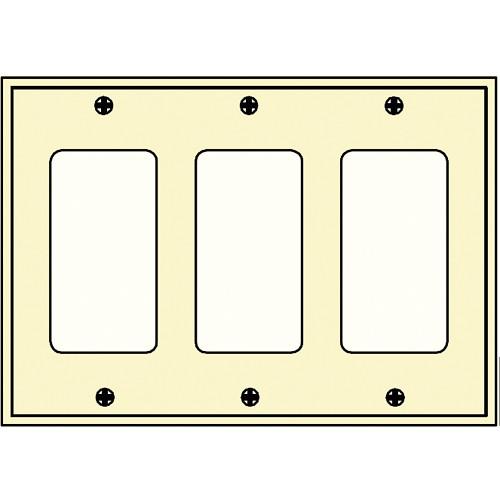 FSR SS-DPLT3-IVO Decora Wall Plate (3-Gang, Ivory)