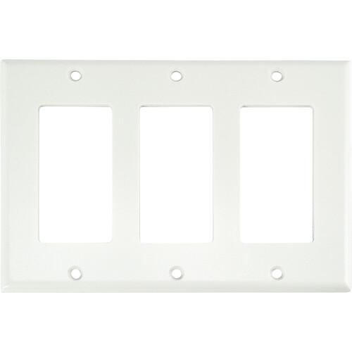 FSR SS-DPLT3-WHT Decora Wall Plate (3-Gang, White)