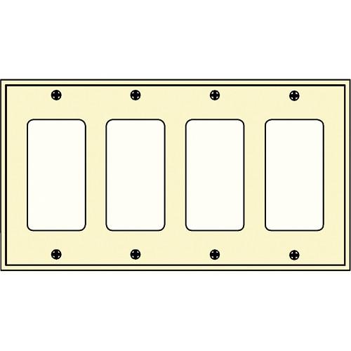 FSR SS-DPLT4-IVO Decora Wall Plate (4-Gang, Ivory)