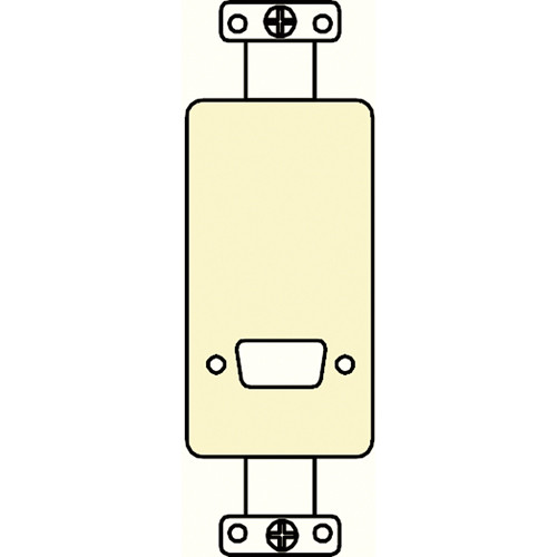 FSR SS-P1DB-IVO Decora Insert with D-Sub Hole (Ivory)