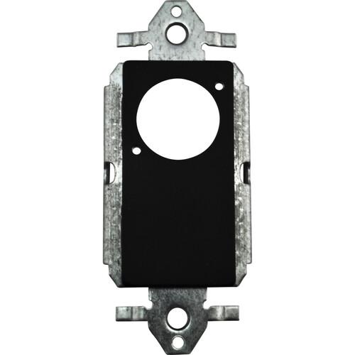 FSR SS-P1XLR-BLK Decora Insert with  Neutrik D-Hole (Black)