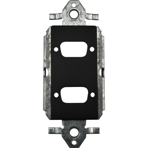 FSR SS-P2DB-BLK Decora Insert with 2 D-Sub Holes (Black)