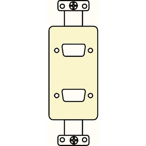 FSR SS-P2DB-IVO Decora Insert with 2 D-Sub Holes (Ivory)