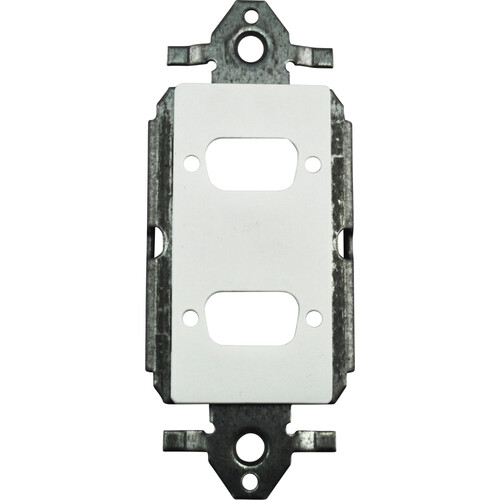 FSR SS-P2DB-WHT Decora Insert with 2 D-Sub Holes (White)