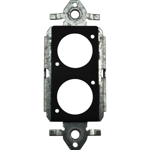 FSR SS-P2XLR-BLK Decora Insert with 2 Neutrik D-Holes (Black)