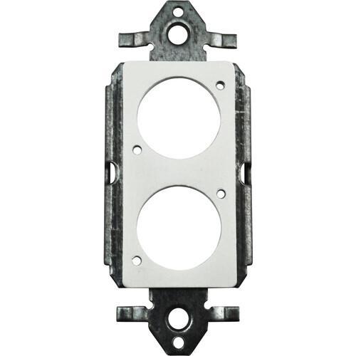 FSR SS-P2XLR-WHT Decora Insert with 2 Neutrik D-Holes (White)