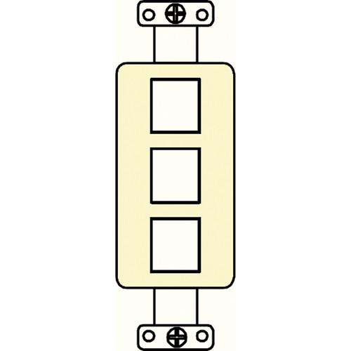 FSR SS-PORT3-IVO  3-Port Plate (Ivory)
