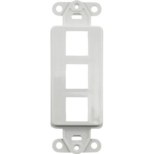 FSR SS-PORT3-WHT  3-Port Plate (White)
