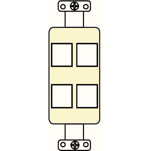 FSR SS-PORT4-IVO  4-Port Plate (Ivory)
