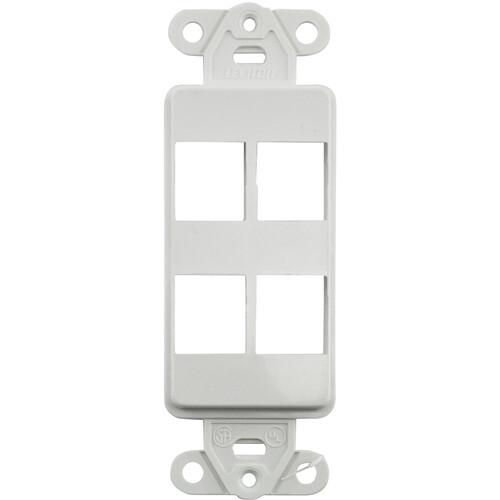 FSR SS-PORT4-WHT  4-Port Plate (White)
