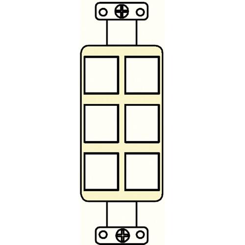 FSR SS-PORT6-IVO  6-Port Plate (Ivory)