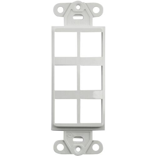 FSR SS-PORT6-WHT  6-Port Plate (White)