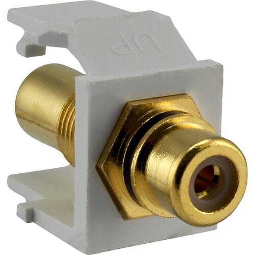 FSR SS-RCA-B-WHT RCA (Black)  Pass-Thru Snap-In Connector (White)