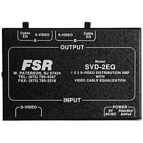 FSR SVD-2EQ 1x2 Y/C S-Video DA w/EQ