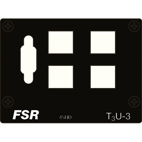 FSR T3U-3-4SHD Connector Plate with HD-15 & 4-Snap-in Connectors