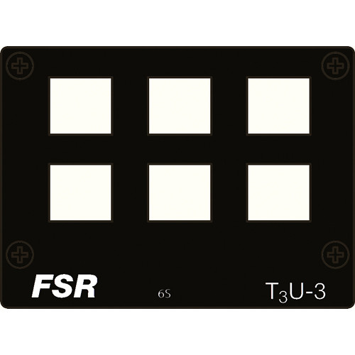 FSR T3U-3-6S Connector Plate for 6 Snap-in Connectors
