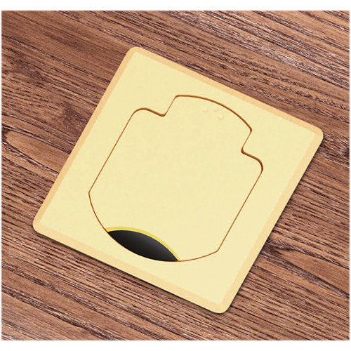 FSR T3-AC2HW-CP-SQBRS Table Box (Square Brass Cover)