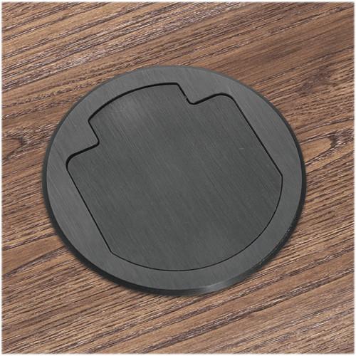 FSR T3-AC2-CAT6-BLK Table Box (Round Black Cover)