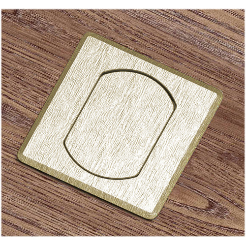 FSR T3-MINISQ-1B-BRS Table Top Microphone Insert (Square Brass Cover)