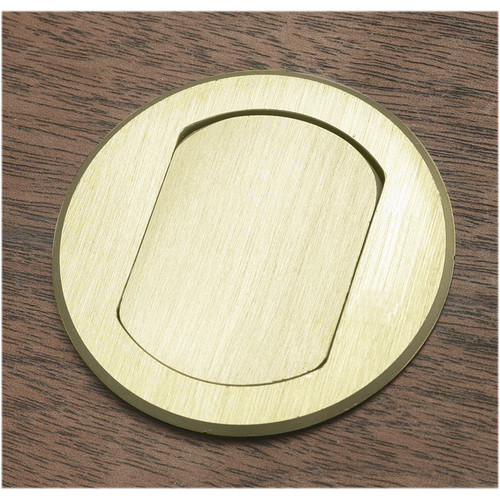 FSR T3-MJ5PIN-BRS Table Box (Round Brass Cover)