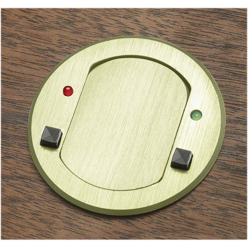 FSR T3-MJ-2B-BRS Table Top Microphone Insert (Round Brass Cover)