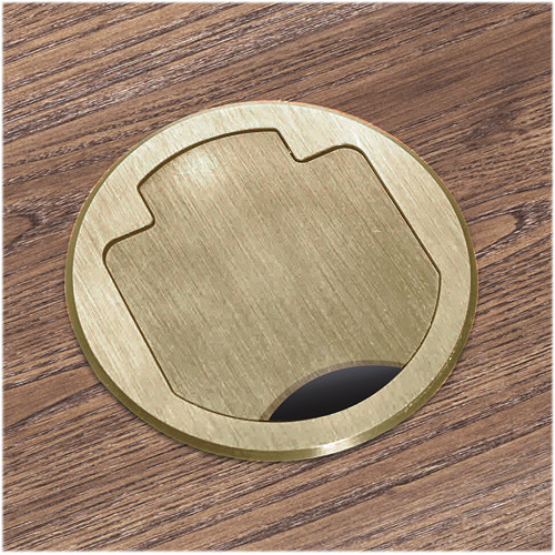 FSR T3-PC1HW-CP-BRS Table Box (Round Brass Cover)
