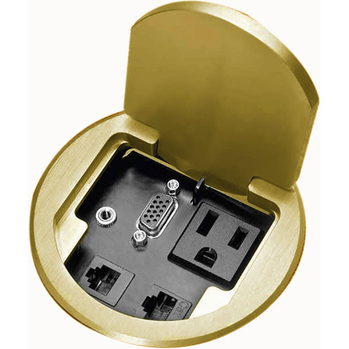FSR T3-PC1BRS Table Box for Single User (Brass)
