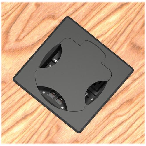 FSR T6-2LBAHW-SBC-SQBLK Table Box (Square Black Cover)