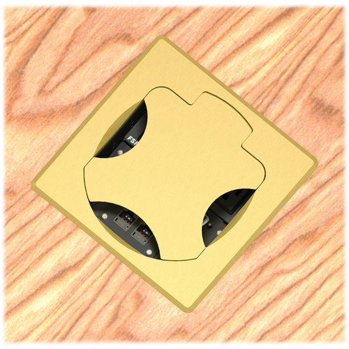 FSR T6-2LBA-SBS-SQBRS Table Box (Square Brass Cover)