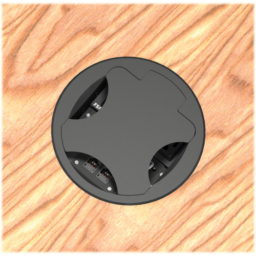 FSR T6-LBAHWC-SBI-BLK Table Box (Round Black Cover)