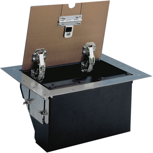 FSR TB-4G-BLK-LIFT 4-Gang Table Box (Black Aluminum)