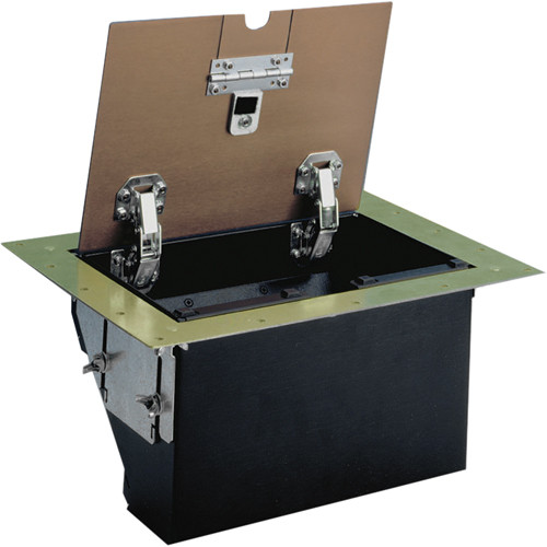 FSR TB-4G-BRS-LIFT 4-Gang Table Box (Brass)