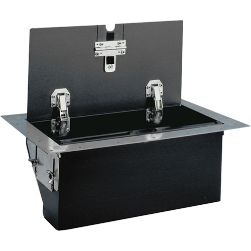 FSR TB-6G-BLK-LIFT 6-Gang Table Box (Black Aluminum)