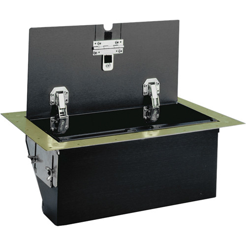 FSR TB-6G-BRS-LIFT 6-Gang Table Box (Brass)