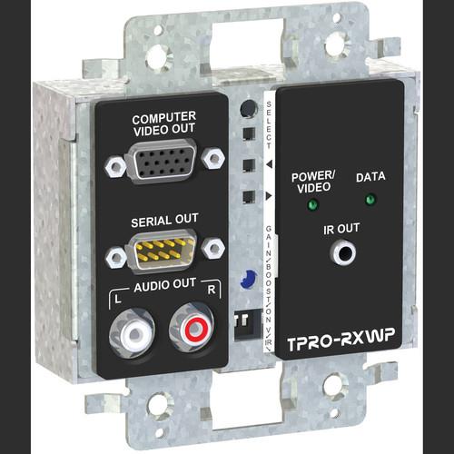 FSR TPRO-RXWPDS-WHT 2-Gang Wall Plate Receiver (White)