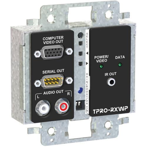 FSR TPRO-RXWPD-BLK 2-Gang Wall Plate Receiver (Black)