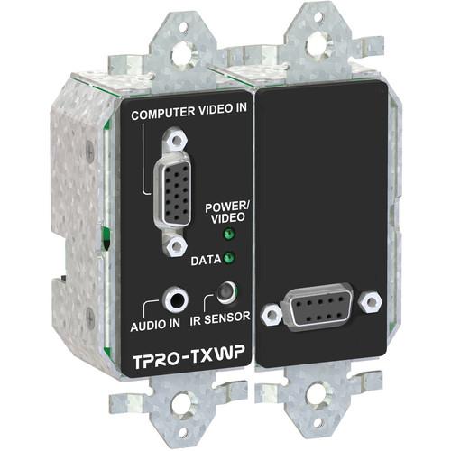 FSR TPRO-TXWPD-BLK 2-Gang Wall Plate Transmitter (Black)