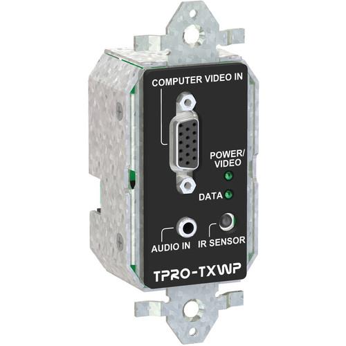 FSR TPRO-TXWP-BLK 1-Gang Wall Plate Transmitter (Black)