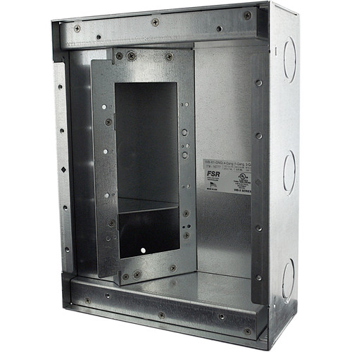 FSR WB-X1-GNG Wall Box (4 Gang Openings with Knock-Outs)