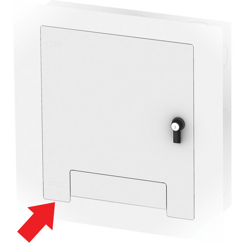 FSR WB-X2-WHT-C Flush-Mounted Locking Cover (White)