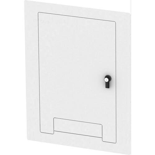 FSR WB-X3-CVRND-WHT Flush-Mounted Locking Cover (White)
