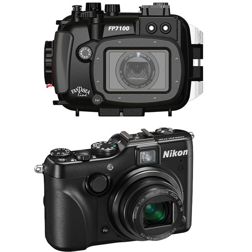 Fantasea Line FP7100 Housing with Nikon COOLPIX P7100 Digital Camera Kit