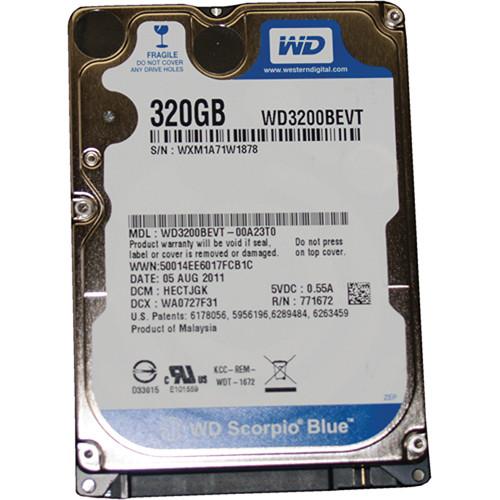 "Fast Forward Video 320 GB Scorpio Blue Internal Hard Drive from Western Digital (2.5"")"