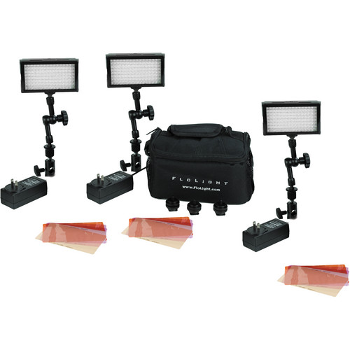 Flolight MicroBeam 128 Compact 3 Light SWAT Kit - 5600K - Spot