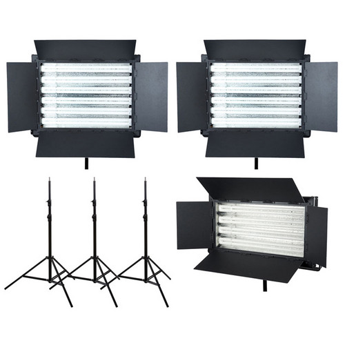 Flolight 1- FL-220AWD / 2- FL-330AWD 3 Fluorescent Light Kit (5,400K)