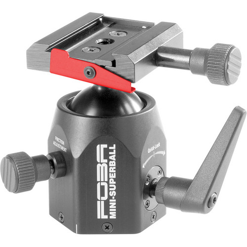 Foba Mini Superball Ballhead with Quick Release (Requires Plate) - Supports 15.00 lb (6.80 kg)