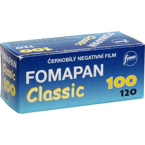 Foma Fomapan 100 Classic Black and White Negative Film (120 Roll Film)