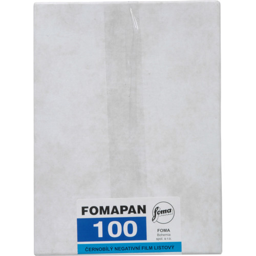 "Foma Fomapan Classic 100 4 x 5"" Black and White Print (Negative) Film"