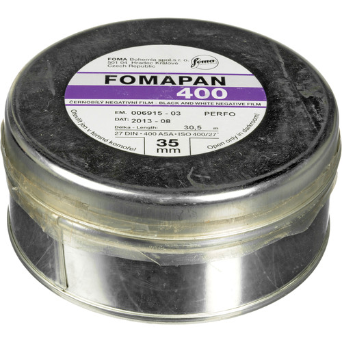 Fomapan 400 Action Black and White Negative Film (35mm Roll Film, 100' Roll)