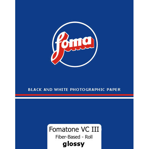 "Foma Fomabrom VC Fiber-Based/111 Paper, 42.5""x33' Roll  (Glossy)"